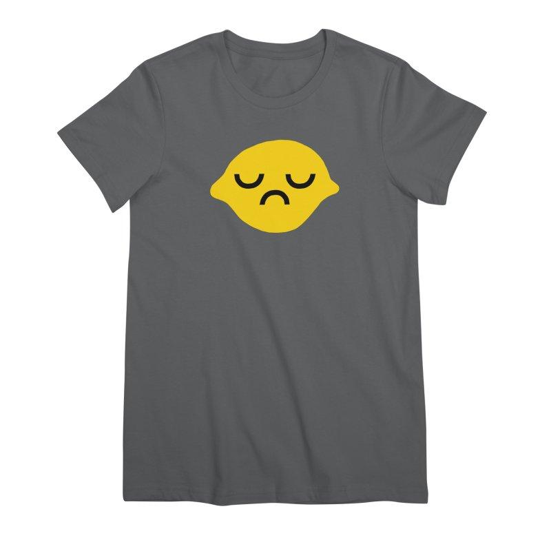 grumpy lemon Women's T-Shirt by dorobot