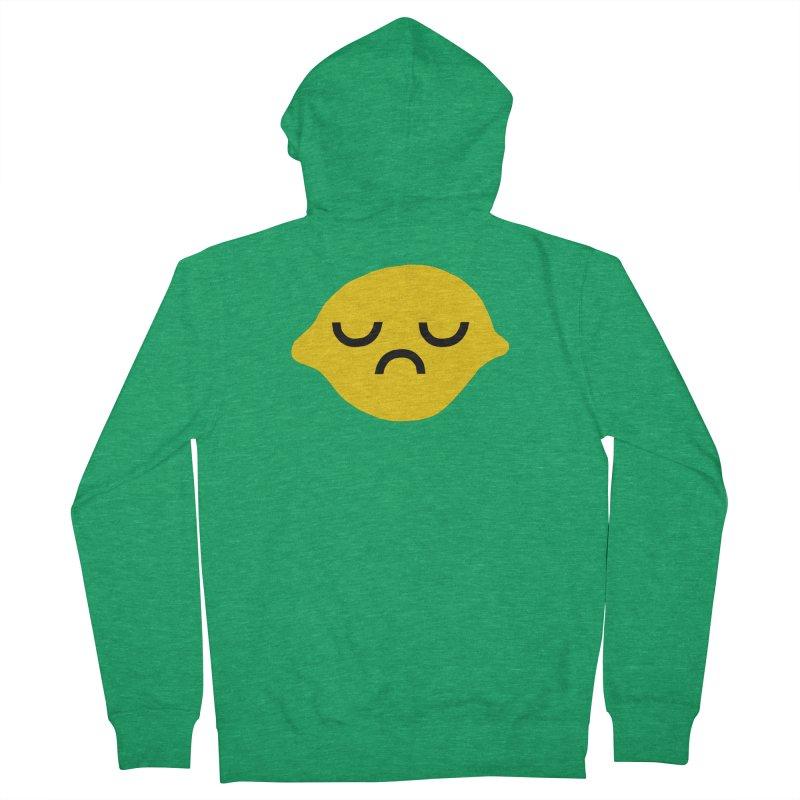 grumpy lemon Men's Zip-Up Hoody by dorobot