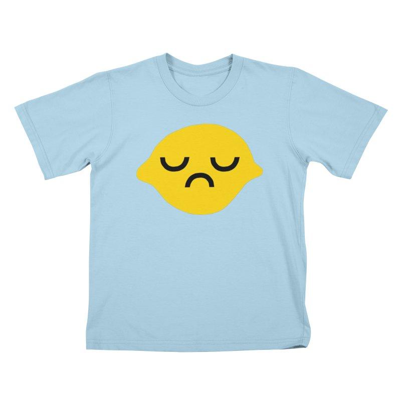grumpy lemon Kids T-Shirt by dorobot