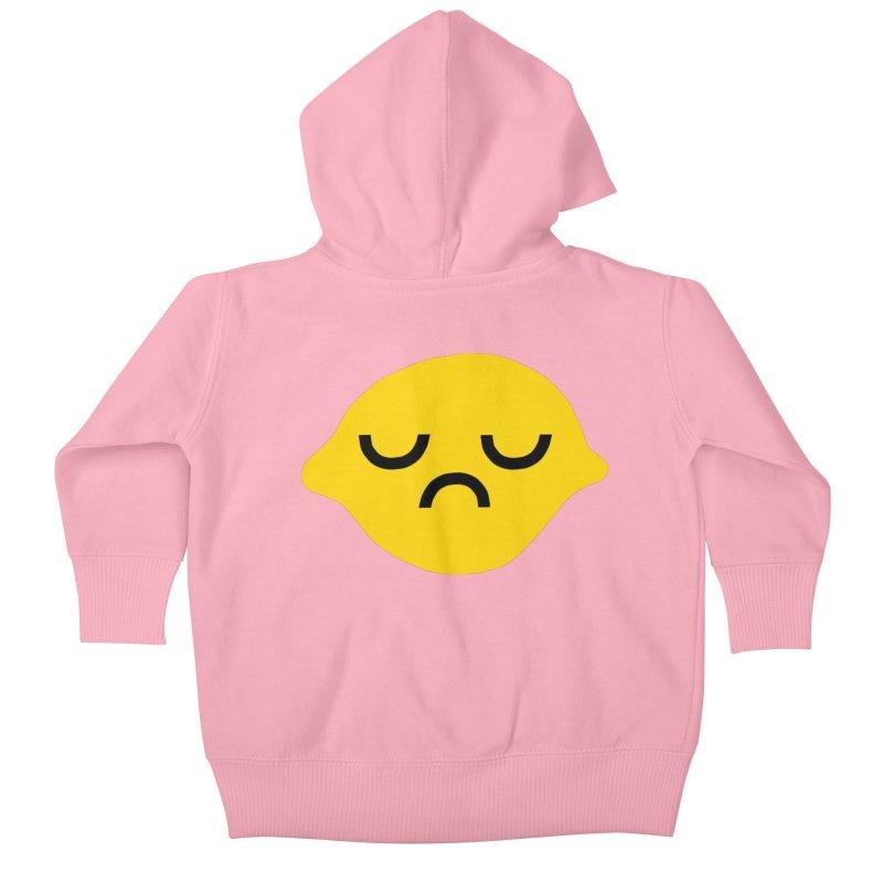 grumpy lemon Kids Baby Zip-Up Hoody by dorobot