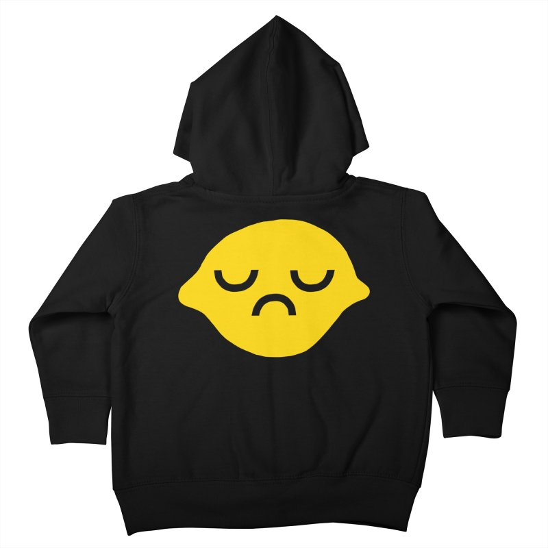 grumpy lemon Kids Toddler Zip-Up Hoody by dorobot