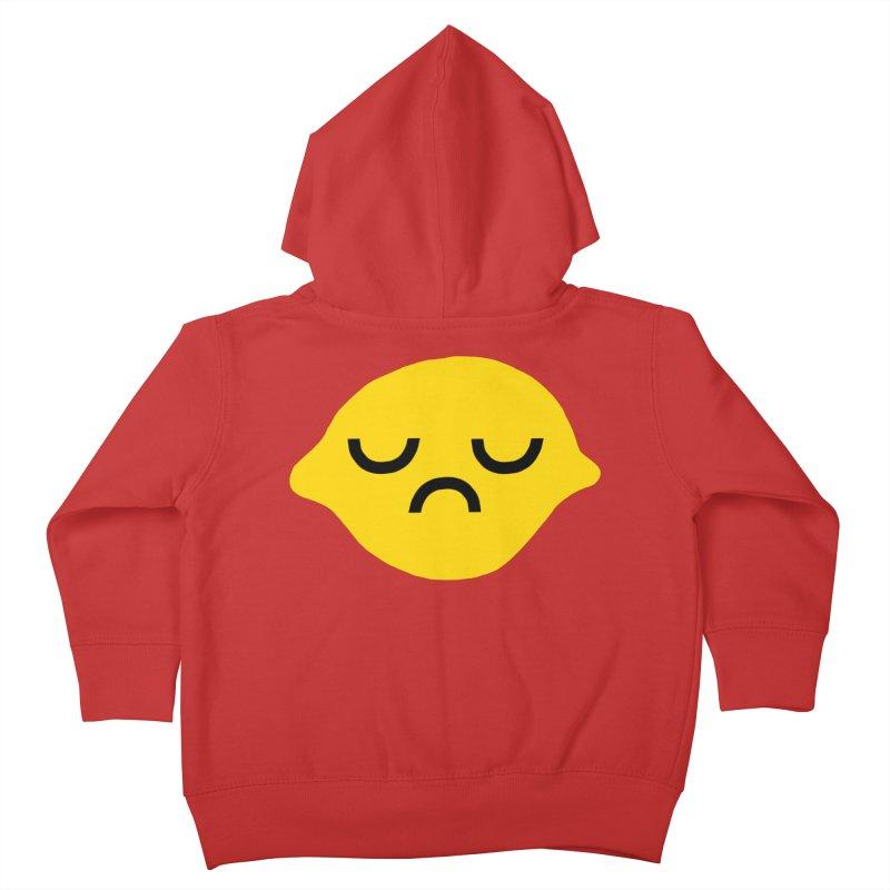 grumpy lemon Kids Toddler Zip-Up Hoody by dorobot