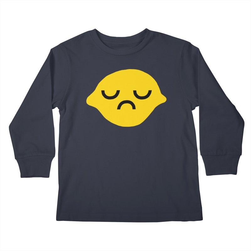 grumpy lemon Kids Longsleeve T-Shirt by dorobot