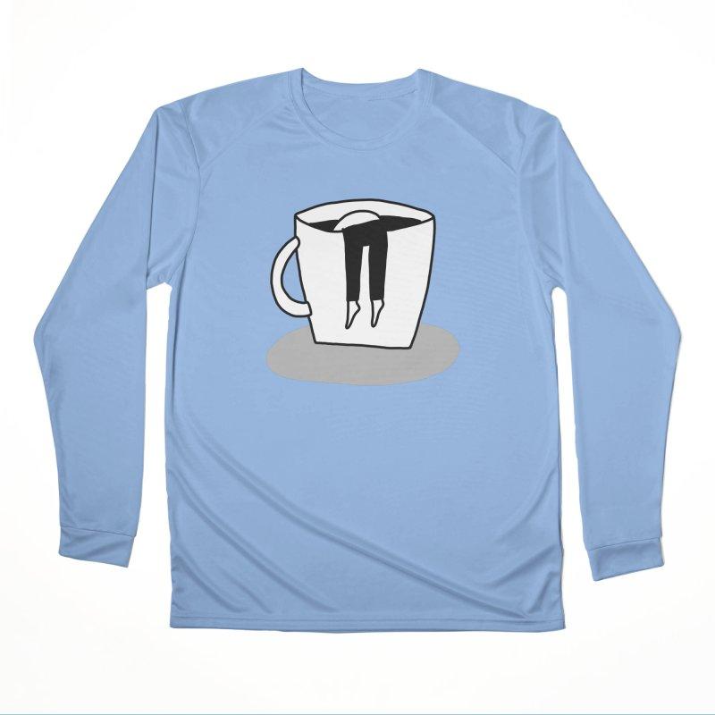 coffee nap Women's Longsleeve T-Shirt by dorobot