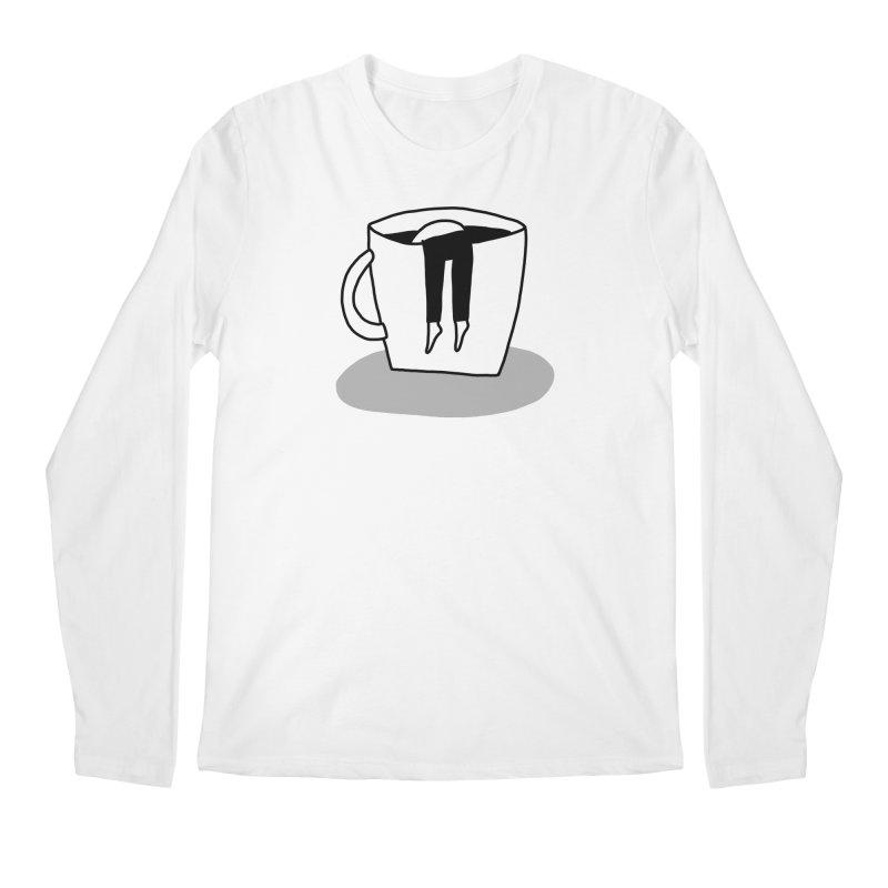 coffee nap Men's Longsleeve T-Shirt by dorobot