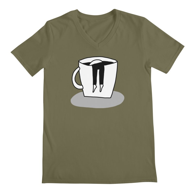 coffee nap Men's V-Neck by dorobot