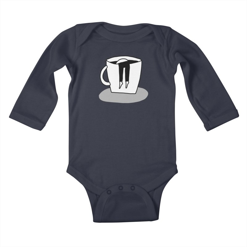 coffee nap Kids Baby Longsleeve Bodysuit by dorobot