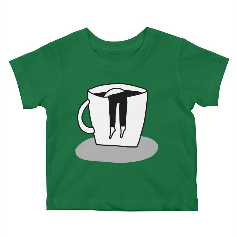 coffee nap Kids Baby T-Shirt by dorobot