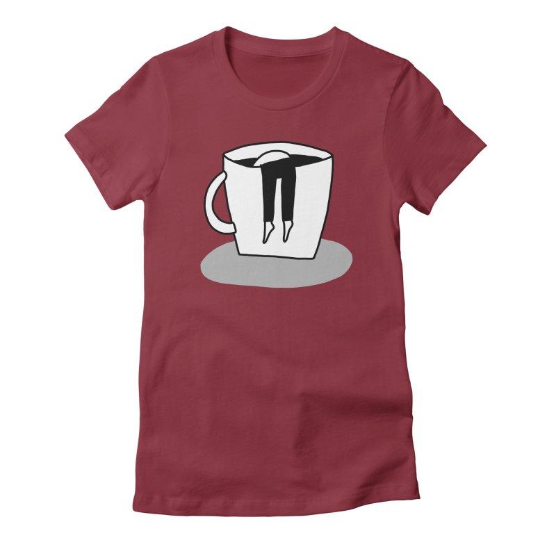 coffee nap Women's T-Shirt by dorobot