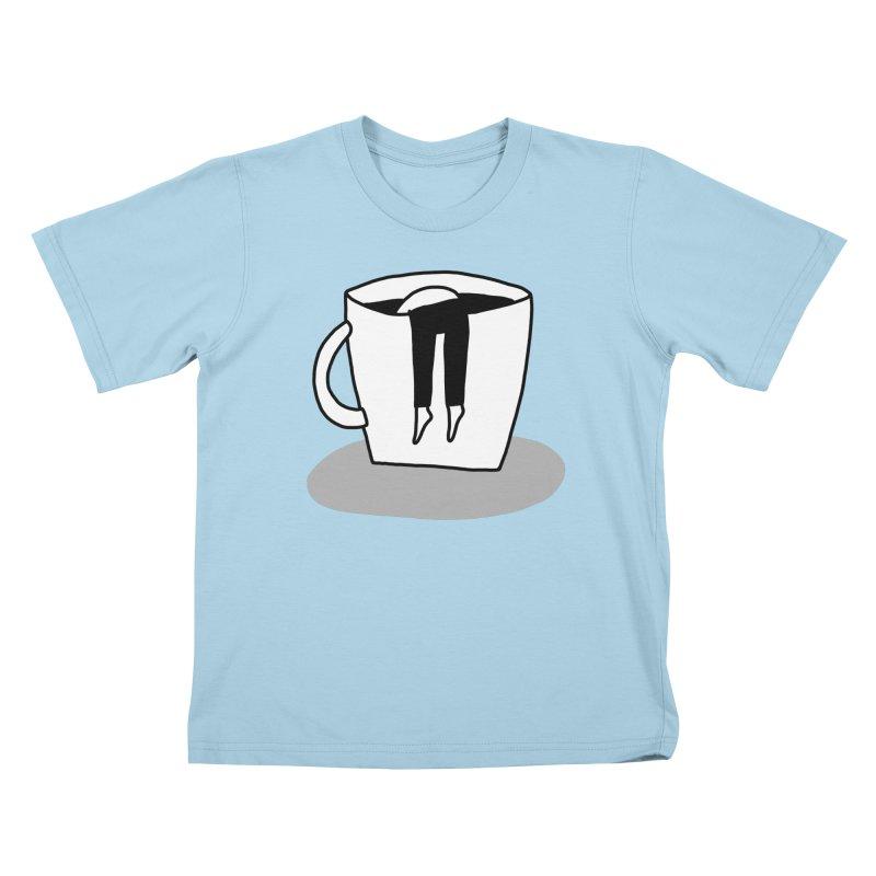coffee nap Kids T-Shirt by dorobot