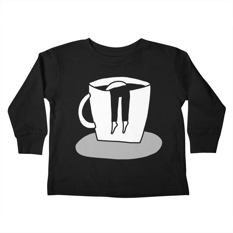 coffee nap Kids Toddler Longsleeve T-Shirt by dorobot