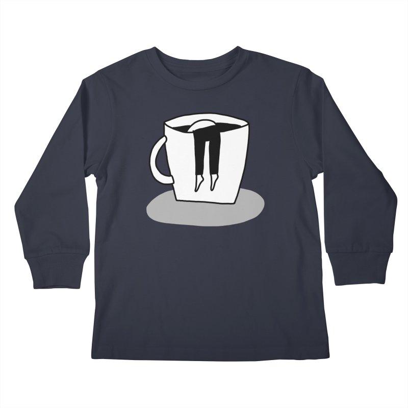 coffee nap Kids Longsleeve T-Shirt by dorobot
