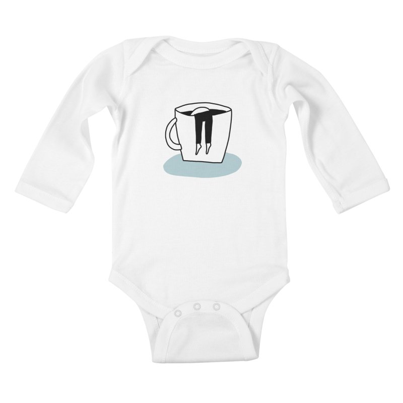 another coffee nap Kids Baby Longsleeve Bodysuit by dorobot