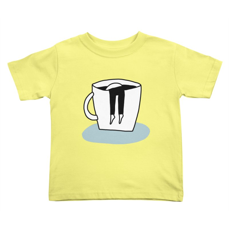 another coffee nap Kids Toddler T-Shirt by dorobot