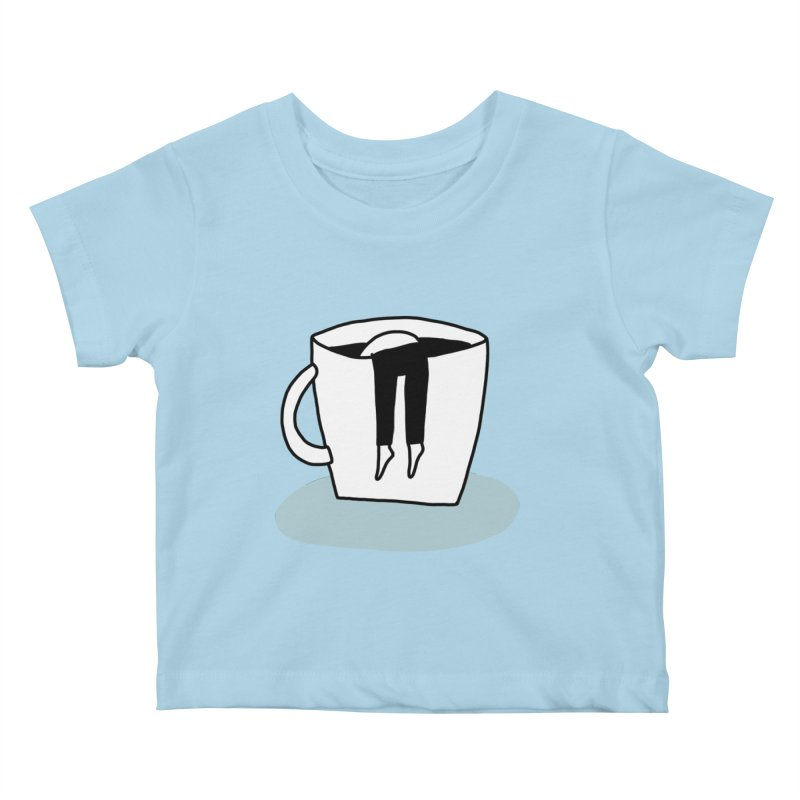 another coffee nap Kids Baby T-Shirt by dorobot