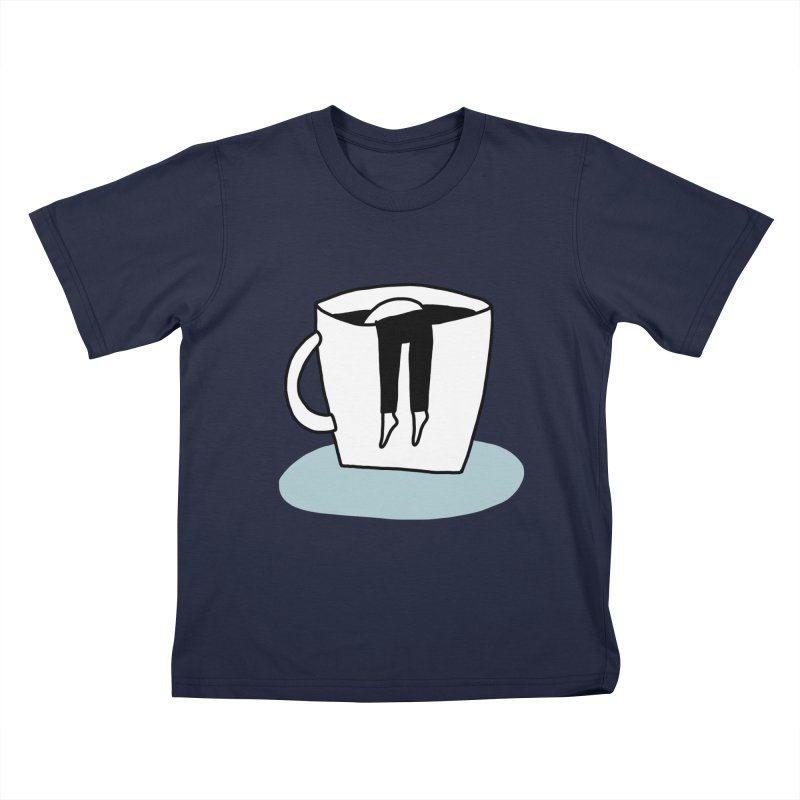 another coffee nap Kids T-Shirt by dorobot
