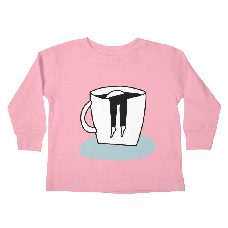 another coffee nap Kids Toddler Longsleeve T-Shirt by dorobot
