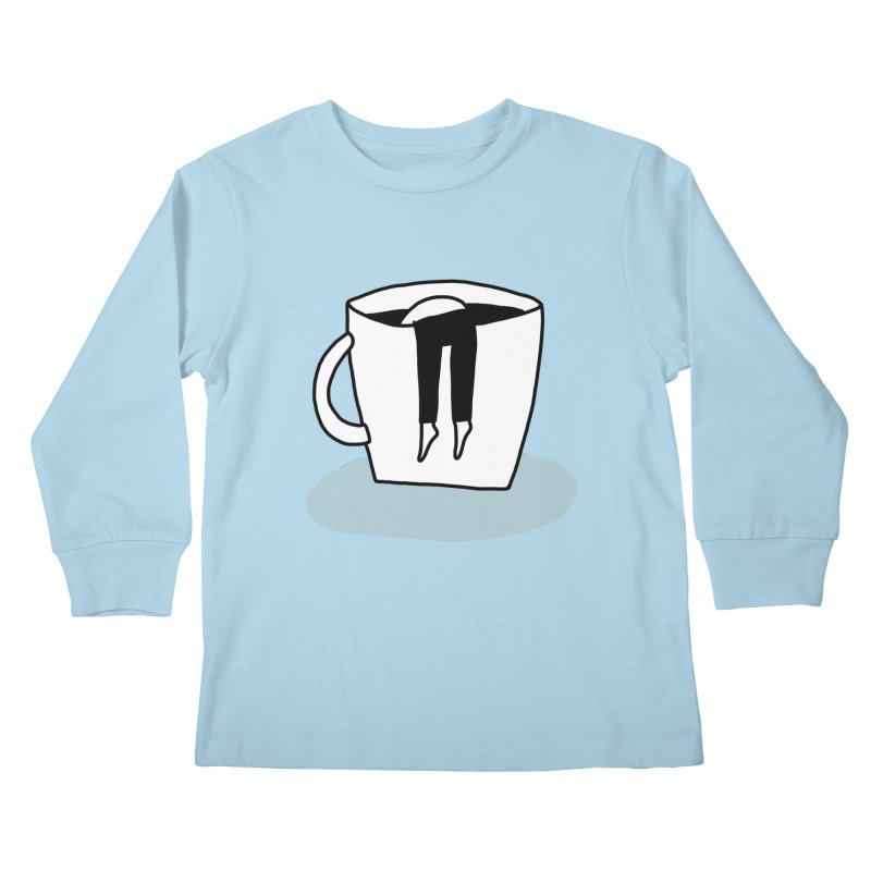 another coffee nap Kids Longsleeve T-Shirt by dorobot