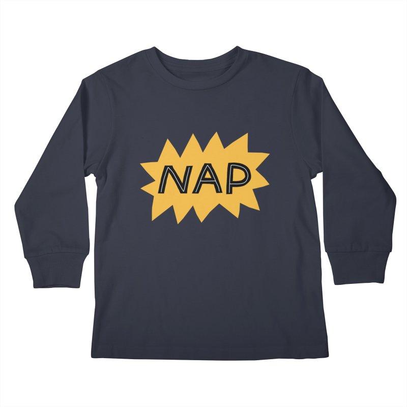 HAVE A NAP! Kids Longsleeve T-Shirt by dorobot