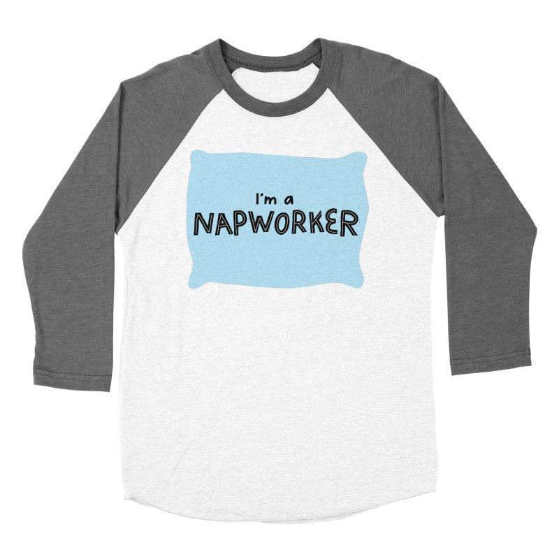 NAPworker Men's Baseball Triblend Longsleeve T-Shirt by dorobot