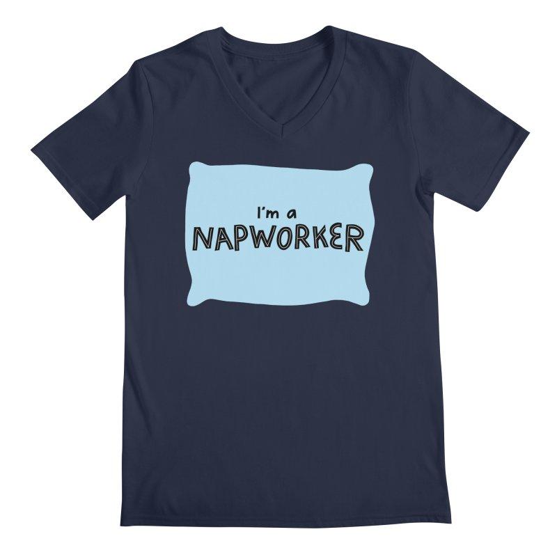 NAPworker Men's Regular V-Neck by dorobot