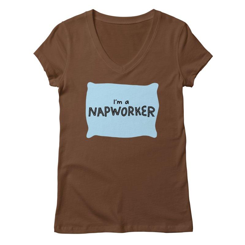 NAPworker Women's Regular V-Neck by dorobot