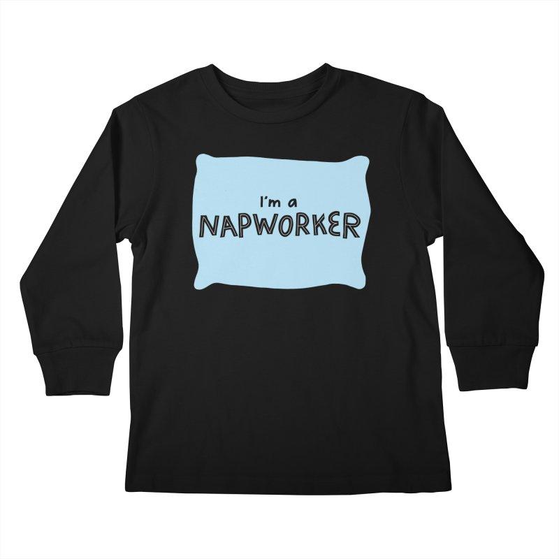 NAPworker Kids Longsleeve T-Shirt by dorobot