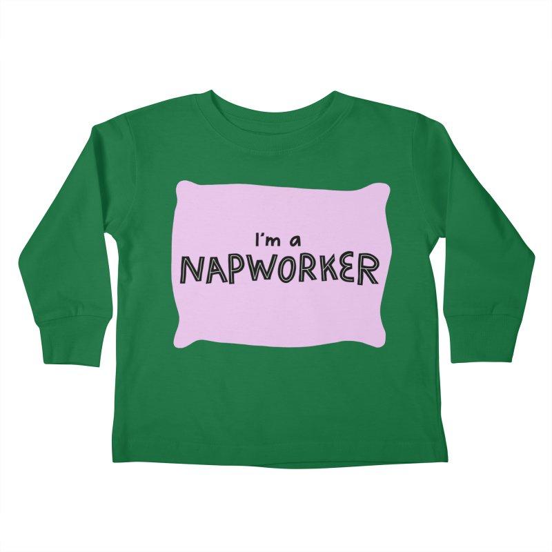 napworker Kids Toddler Longsleeve T-Shirt by dorobot