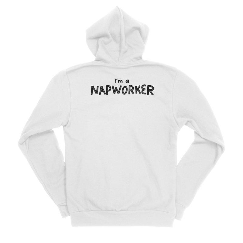 NAPworker Men's Sponge Fleece Zip-Up Hoody by dorobot