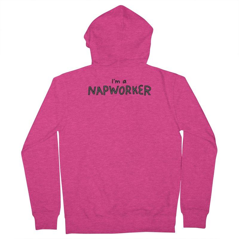 NAPworker Women's French Terry Zip-Up Hoody by dorobot