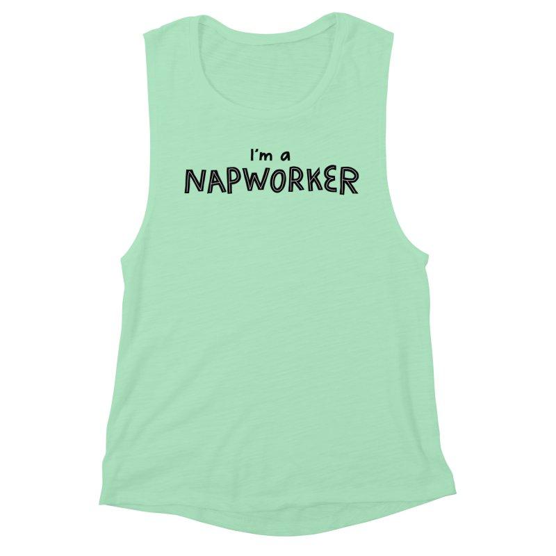 NAPworker Women's Muscle Tank by dorobot