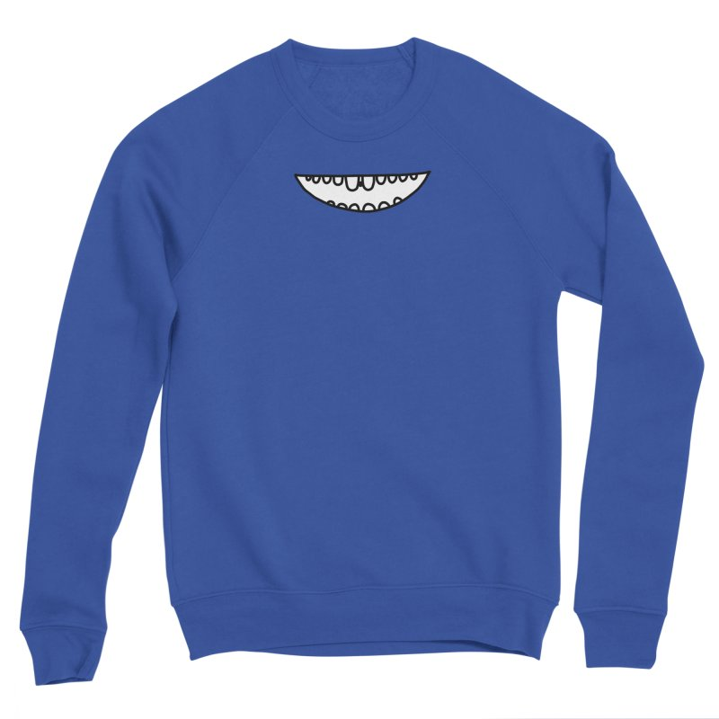 is there something in my teeth? Men's Sponge Fleece Sweatshirt by dorobot