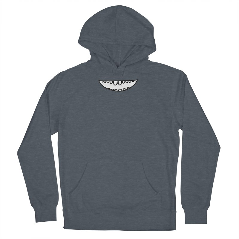 is there something in my teeth? Men's French Terry Pullover Hoody by dorobot