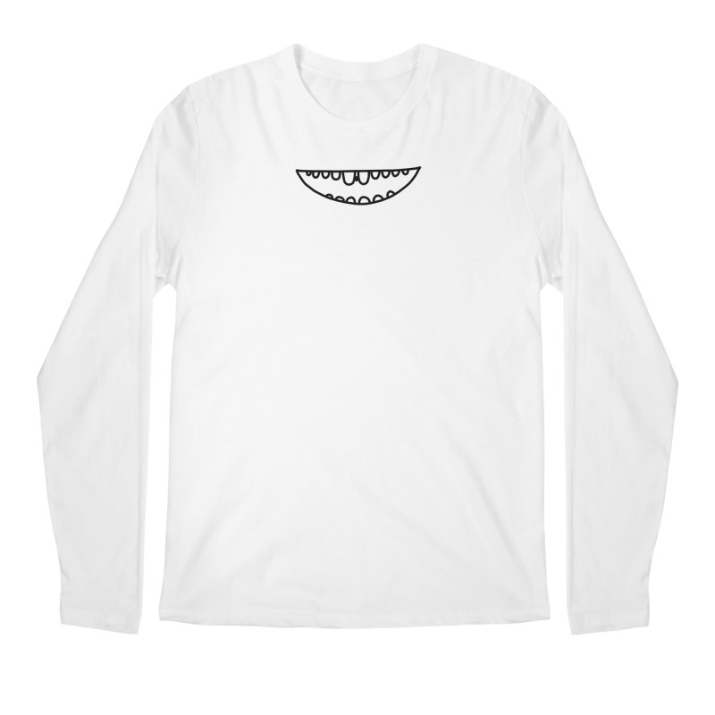 is there something in my teeth? Men's Regular Longsleeve T-Shirt by dorobot