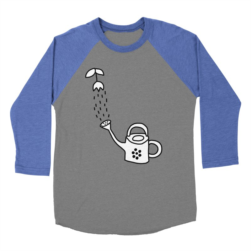 yes we WATERING can! Men's Baseball Triblend Longsleeve T-Shirt by dorobot