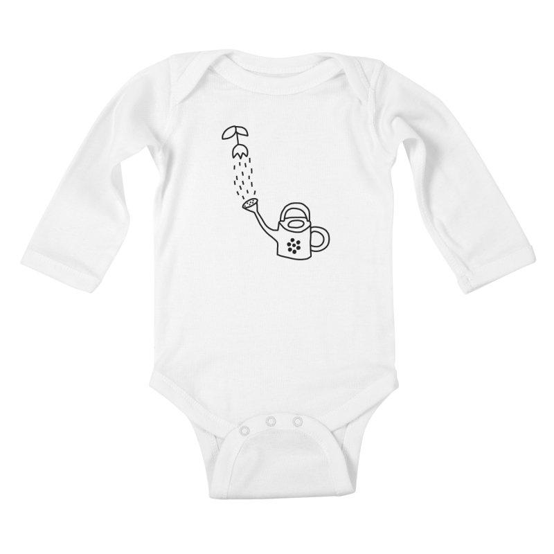 yes we WATERING can! Kids Baby Longsleeve Bodysuit by dorobot