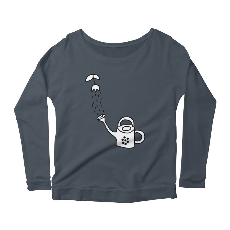 yes we WATERING can! Women's Scoop Neck Longsleeve T-Shirt by dorobot