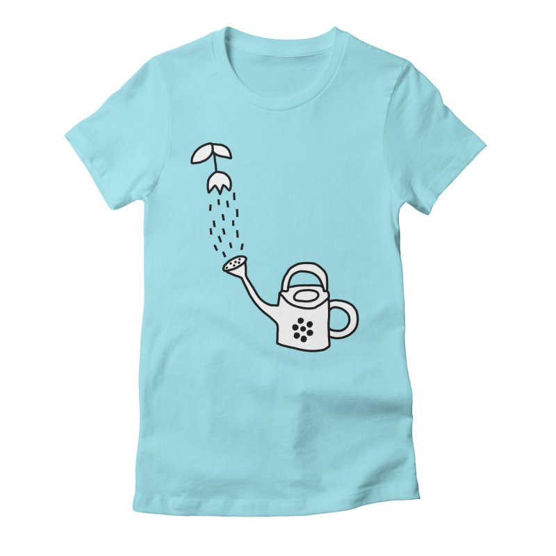 yes we WATERING can! Women's Fitted T-Shirt by dorobot
