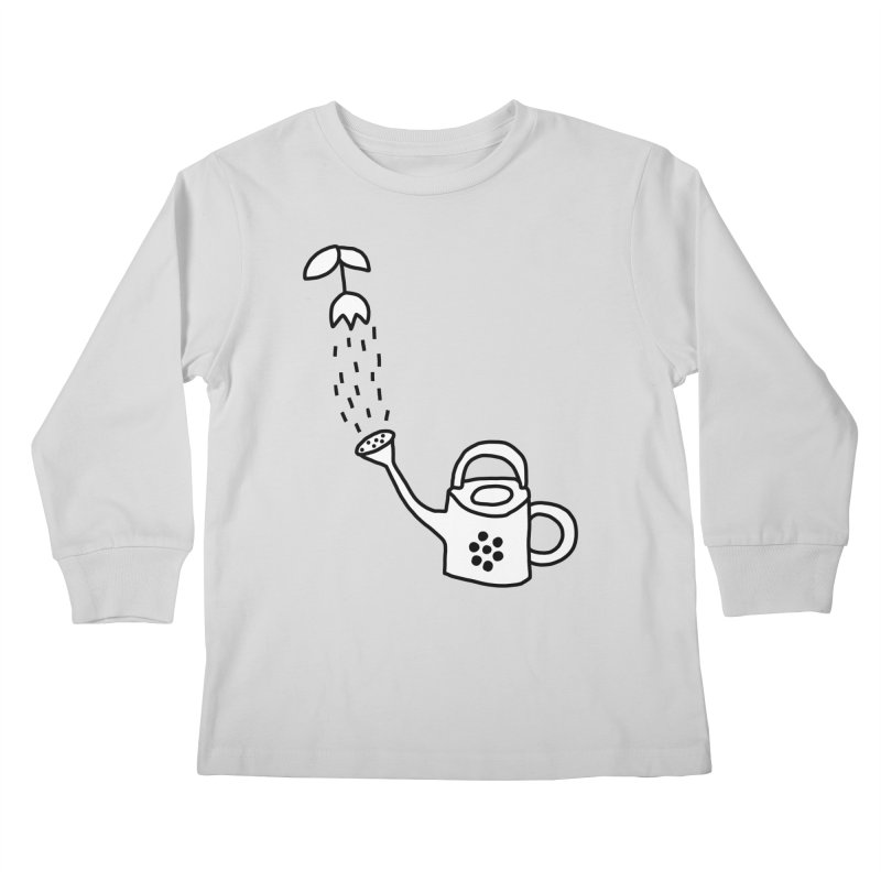 yes we WATERING can! Kids Longsleeve T-Shirt by dorobot