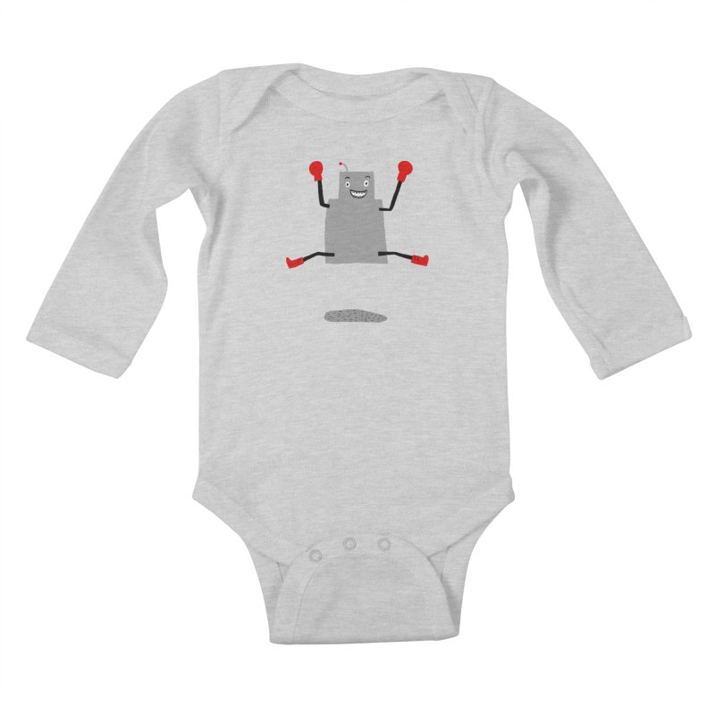 ROBBY McBLOBSMASHER Kids Baby Longsleeve Bodysuit by dorobot