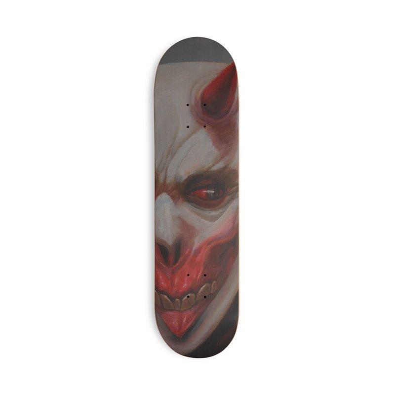 Portrait of a Devil Accessories Skateboard by dosdiablos's Artist Shop