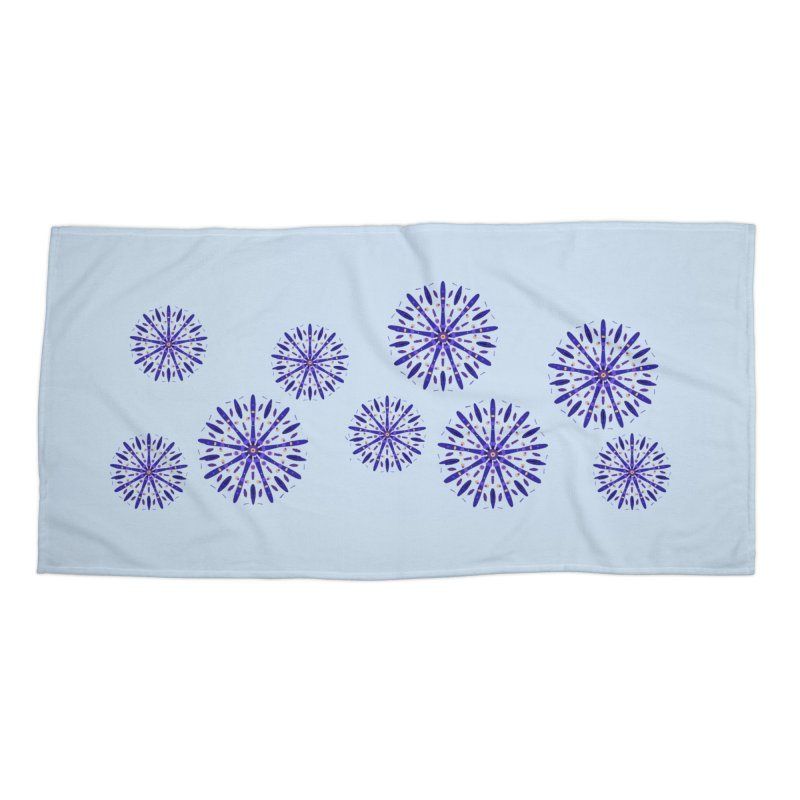 Purple Star Accessories Beach Towel by dotdotdottshirts's Artist Shop