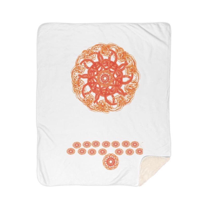 Orange Sunburst Home Sherpa Blanket Blanket by dotdotdottshirts's and textiles Artist Shop
