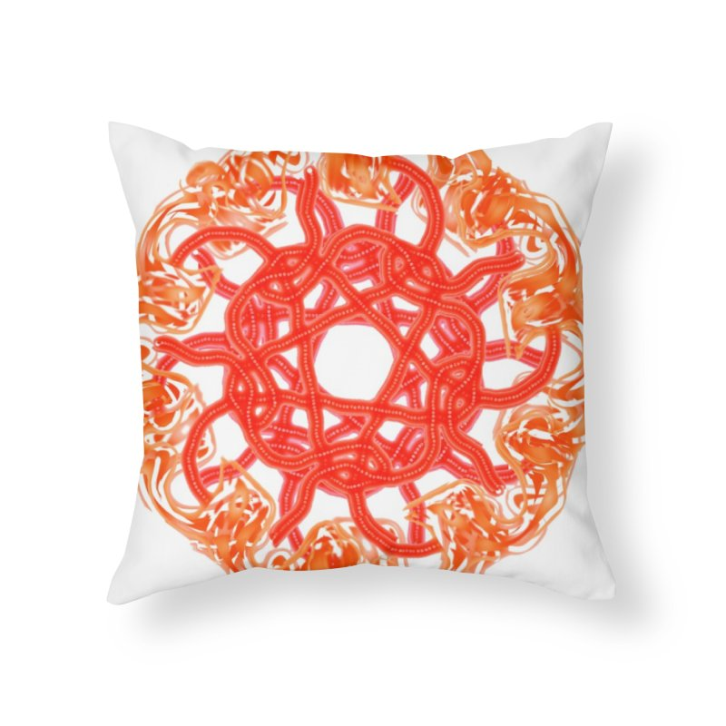 Orange Sunburst Home Throw Pillow by dotdotdottshirts's and textiles Artist Shop
