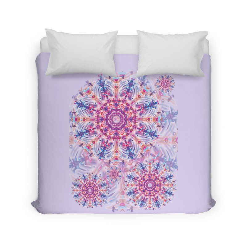 Snowflake Rainbow Home Duvet by dotdotdottshirts's and textiles Artist Shop