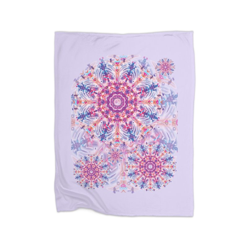 Snowflake Rainbow Home Fleece Blanket Blanket by dotdotdottshirts's and textiles Artist Shop