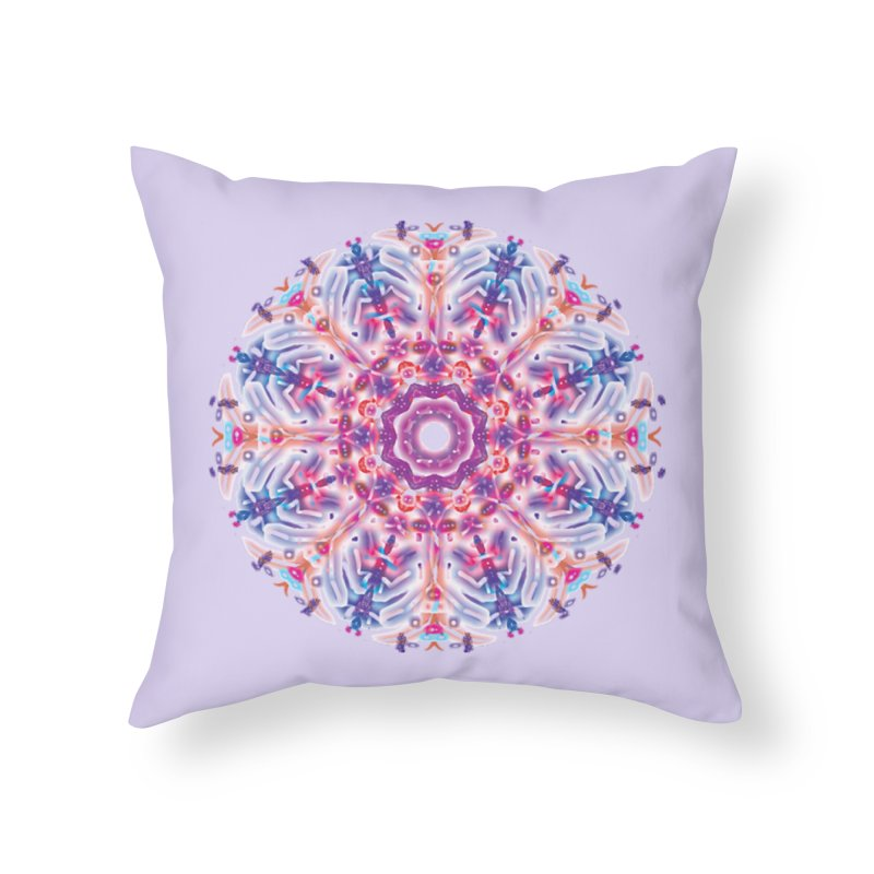 Snowflake Rainbow Home Throw Pillow by dotdotdottshirts's and textiles Artist Shop