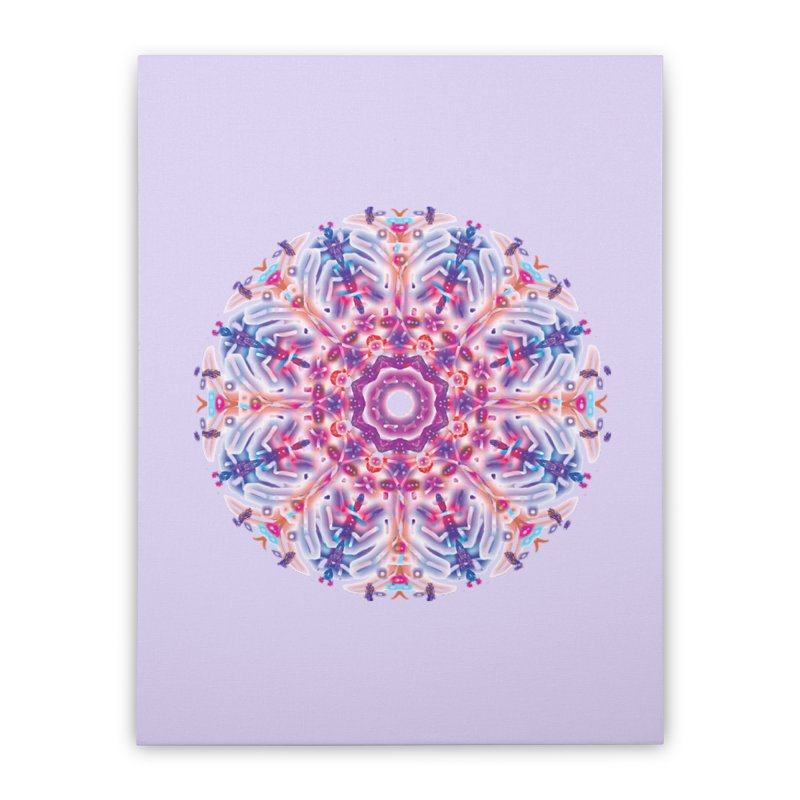 Snowflake Rainbow Home Stretched Canvas by dotdotdottshirts's and textiles Artist Shop