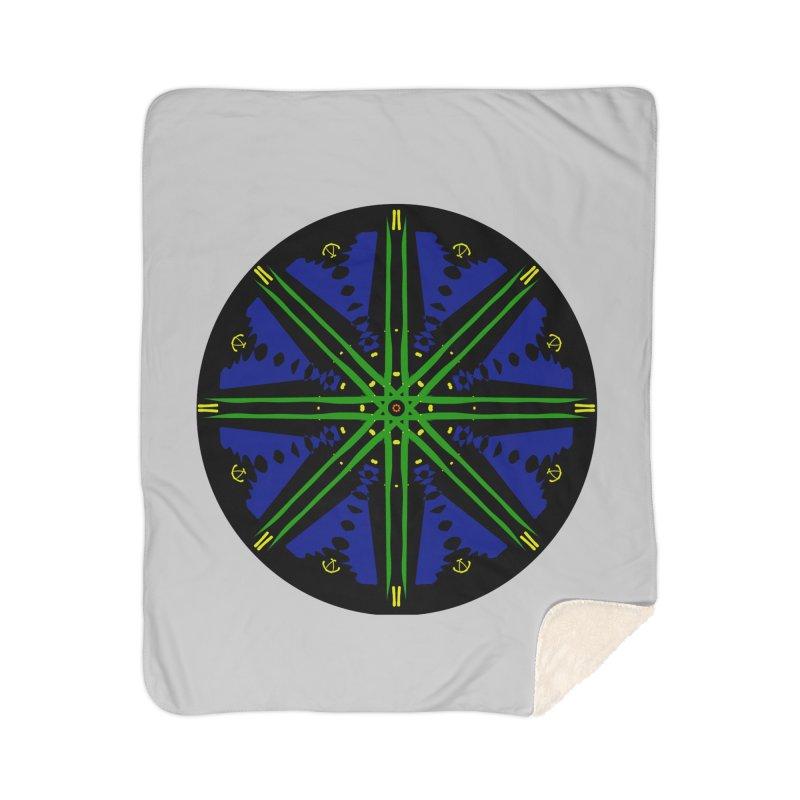 Starship Blue Green  Home Blanket by dotdotdottshirts's and textiles Artist Shop