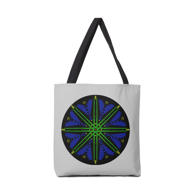 Starship Blue Green  Accessories Tote Bag Bag by dotdotdottshirts's and textiles Artist Shop